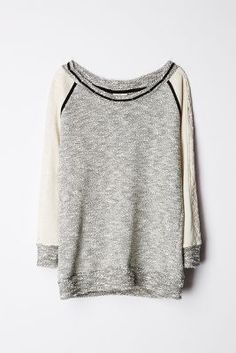 Gray  Cream Sweater.