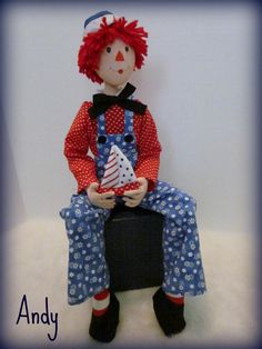 Andy - Cloth Art Doll