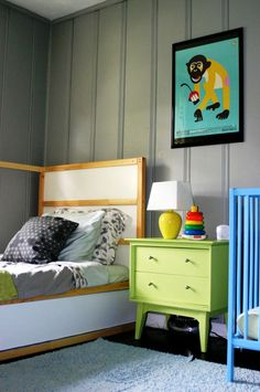painted gray paneling