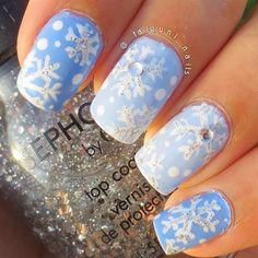 snowflakes #nail #na