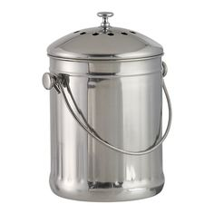 Compost Pail - $39.95 // This thing is awesome. Stylin' enough to keep conveniently on your counter and thanks to the charcoal filter, it stays smelling like nothing at all. Has the seal of approval from at least 2 CN elves.