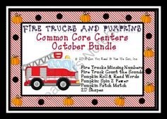 Can You Read It Giveaway! Enter for your chance to win 1 of 2.  Fire Trucks and Pumpkins: 6 Kindergarten Common Core Centers Kit (115 pages) from Can You Read It on TeachersNotebook.com (Ends on on 10-5-2014)  Check out these CCSS aligned center games.  There are 6 games that each align with a different CCSS.  Each set also is color coded to engage 6 players at a time!  Perfect for your October center time!