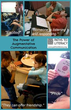Reflections on the power of augmentative communication for students with multiple disabilities and visual impairments  http://www.pathstoliteracy.org/closing-reflections-power-augmentative-communication