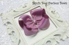 Large Chalk Violet Boutique Hair Bow