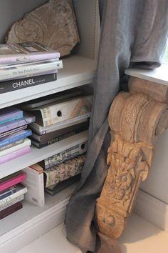 Trouvais dark linens and light floor