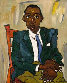 Portrait of Fletcher, 1939, William H. Johnson, oil on burlap, 36 1/4 x 29 1/8 in. (92.0 x 74.0 cm.), Smithsonian American Art Museum, Gift of the Harmon Foundation, 1967.59.1136