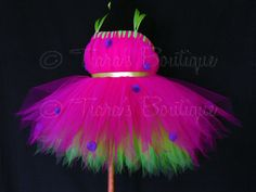 Ladybug Tutu Dress Pink Purple Green Tutu by TiarasTutus on Etsy