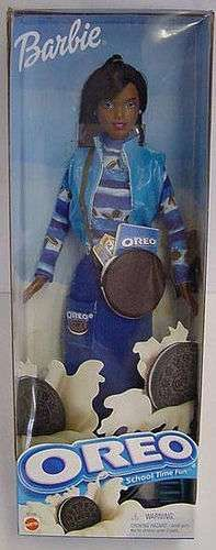 This was the (unbelievably real!) Oreo Barbie.