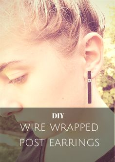 #DIY Wire Wrapped Post #Earrings #Tutorial.