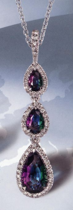 Alexandrite UNATTAINABLE BY MOST PEOPLE, INCLUDING ME, BECAUSE OF RARITY & COST. (June birthstone, pearl being the other)
