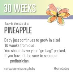 30 Weeks #bumpbadge | Mercy Medical Center - Des Moines