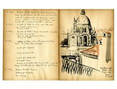 Designer Lyman Martin's travel journal from the 1940s