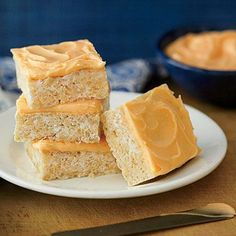 """Orange Dreamsicle Crispy Treats 