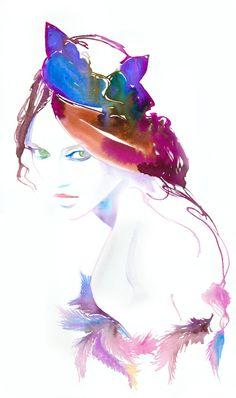 Cate Parr #watercolor #fashion #illustration