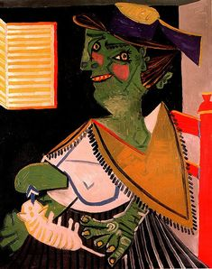 Portrait of Paul Éluard (holding an orange tabby) |  oil painting, 1937 |  Pablo Picasso