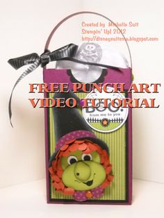 """Here's a free video tutorial on creating """"Miss Sassparilla""""....my punch art witch."""