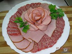 ham, awesom idea, garnishing ideas, food design, cold cuts, garnish ideas, meat cut, food art, fiambr