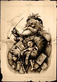 This is the all time classic Santa and it has a Morristown NJ connection as the illustrator from 150 years ago came from here.  His name was Thomas Nast and he really was the first american illustrator who focused on Santa claus