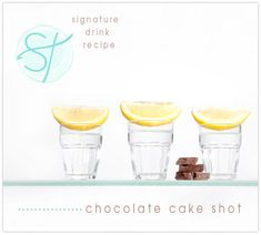 wedding signature drink recipe the chocolate cake shot so