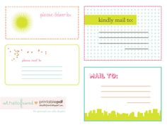 Free Printable Cute Mailing Labels