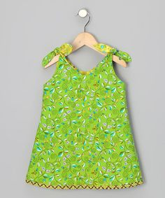 Take a look at this Green & Yellow Reversible Dress - Infant, Toddler & Girls by Sew Me a Memory on #zulily today!