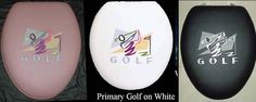 CloudSoft Golf Logo embroidered padded toilet seat. more colors