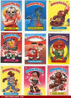 I loved collecting Garbage Pail Kids stickers.