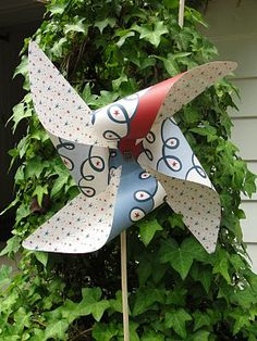 Imperfectly Beautiful: The Most Ginormous Paper Pinwheels Ever
