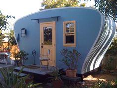 tini hous, tiny houses, vintage caravans, road, guest houses, blues, retro vintage, camping trailers, vintage campers