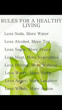 Simple steps to a healthier life