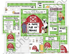 A Farm Full of Nouns product from Pitners-Potpourri on TeachersNotebook.com