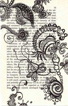undulating biotic: amazing ink on paper piece