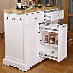 White kitchen cart with black granite insert at big lots kitchen pinterest - Big lots kitchen carts ...
