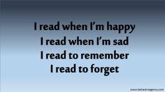 Always reading :)