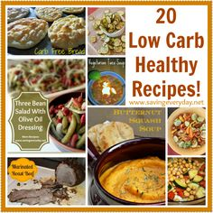 20 Low Carb Healthy Recipes! carb healthi, low carb healthy recipes, healthi recip