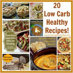 20 Low Carb Healthy Recipes!