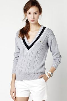 lacost prep, fashion, sporty chic, style, knit sweaters