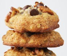 Banana Walnut Chocolate Chip Cookies #recipe