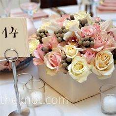 Wedding centerpiece idea #wedding #reception #centerpiece