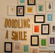 Doodling a smile