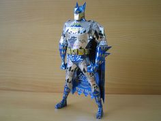 geek, character art, recycled cans, movie characters, soda can art, batman, origami art, aluminum cans, sculpture art