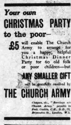 The Church Army. 15 December, 1926