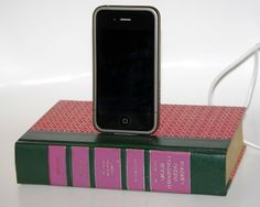Book charging dock for iPhone and iPod