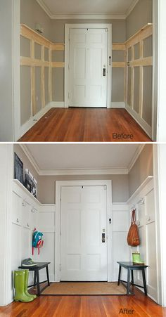 Wood paneling on the