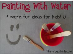 Painting with Water + more Summer Fun ideas for kids! ~ from TheFrugalGirls.com #kids #activities