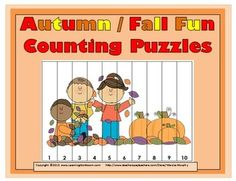Autumn / Fall Fun Counting Puzzles