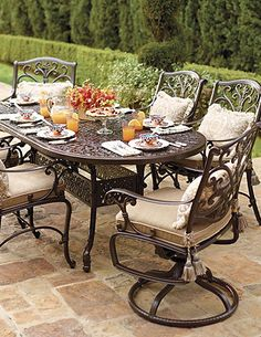 Darker toned outdoor furniture creates a more elegant appeal for your patio.