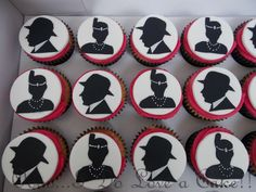 Gangster and Flapper 1920's Cupcakes