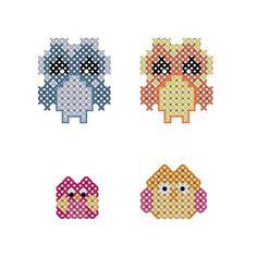 #minicrossstitch #owls #dollarcrossstitch #diy