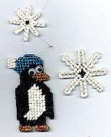 Playful Winter Penguin plastic craft, plastic canvass, sherri craft, penguins, craftsplast canva, winter penguin, winter craft, christma craft, canvases